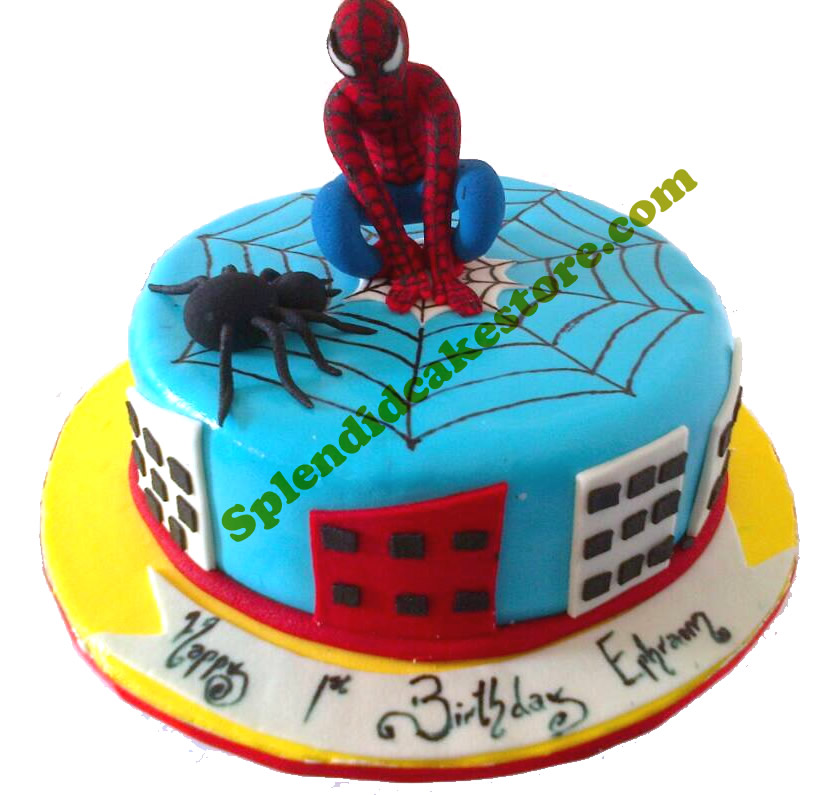 Fantastic Spiderman Birthday Cake Splendid Cake Store Personalised Birthday Cards Paralily Jamesorg