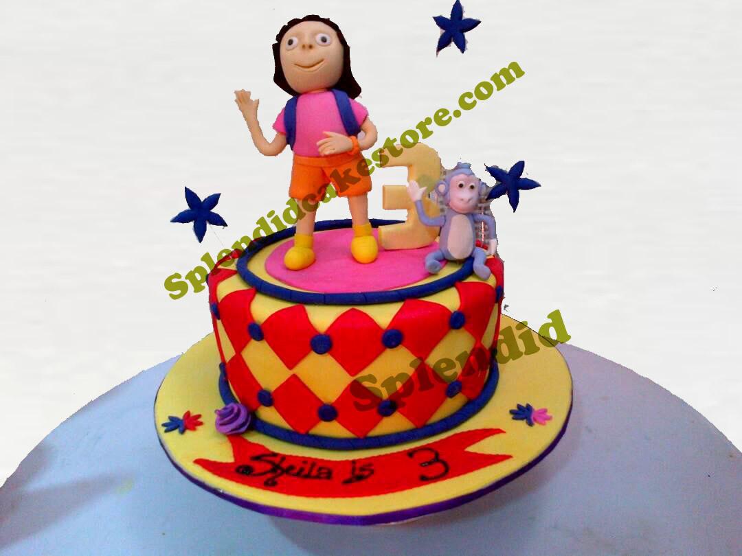 Fabulous Dora Birthday Cake Splendid Cake Store Funny Birthday Cards Online Alyptdamsfinfo